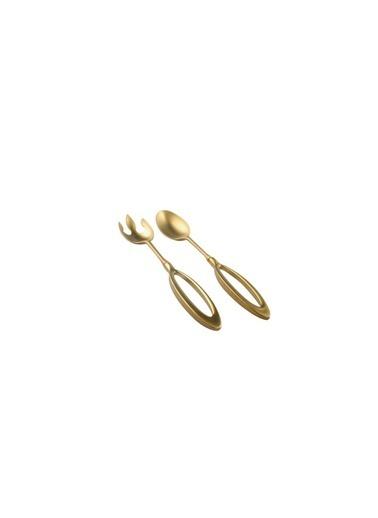 Sembol Altın Standlı Salata Servis Seti 26Cm Renkli
